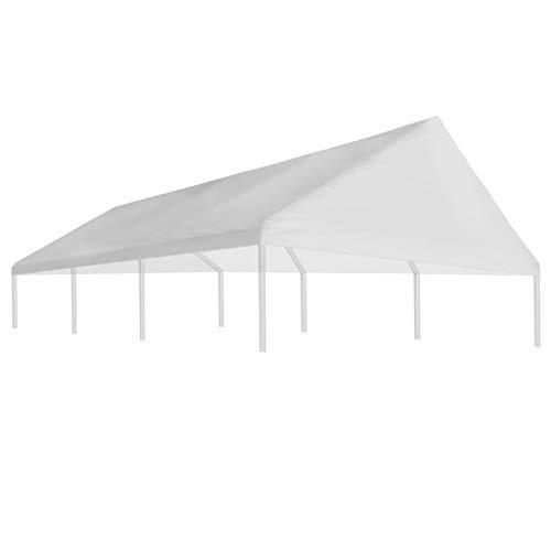 Festnight- Pavillondach 4 x 6 m Wei? | Ersatzdach mit PVC-Beschichtung | UV- und Wasserbest?ndig...