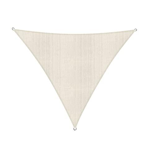 Lumaland Sonnensegel Dreieck 4 x 4 x 4 m - inkl. Befestigungsseile, Wetterbeständig, 100% HDPE mit...