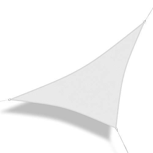 Corasol 160083 Premium Sonnensegel, 3,6 x 3,6 x 5 m, 90° Grad Dreieck, Wind- & wasserdurchlässig,...