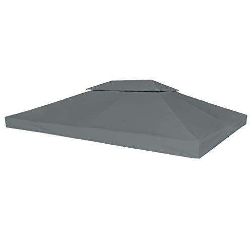 Festnight 2-Stufiges Pavillondach Ersatzdach 4 x 3 m | Pavillon Dach mit PVC-Beschichtung |...