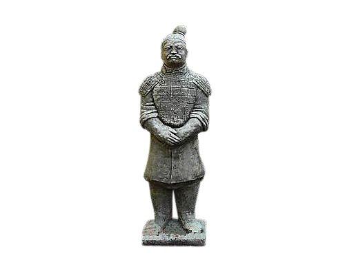 Steinfigur Krieger, 70 cm hoch, Figur aus Steinguss