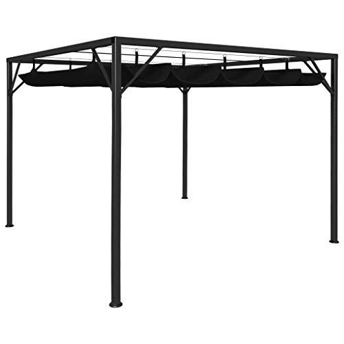 vidaXL Gartenpavillon mit ausziehbarem Dach UV- und Wasserbeständig Pavillon Pergola Überdachung...