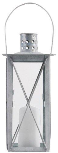 Esschert Design Laterne, Windlicht Farol in grau aus verzinktem Metall, eckig, Größe S, ca. 12 cm...