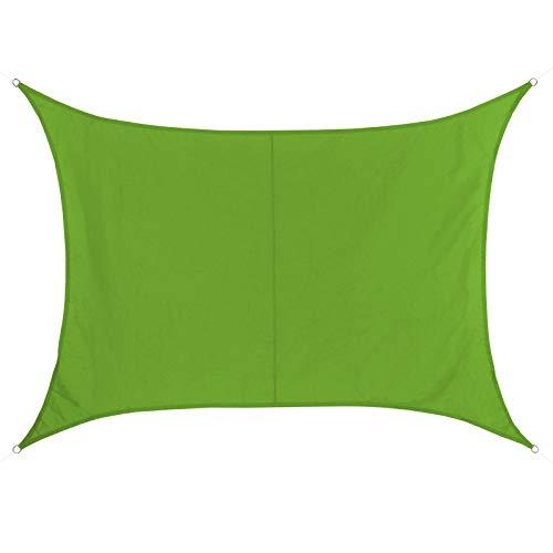 BB Sport Sonnensegel 2m x 3m Smaragd Rechteckig Wetterbeständig Wasserabweisend Sonnenschutz 100%...