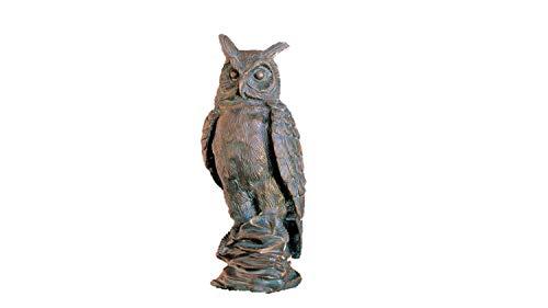 Steinfiguren Horn Bronze Eule, Skulptur, Tierfigur