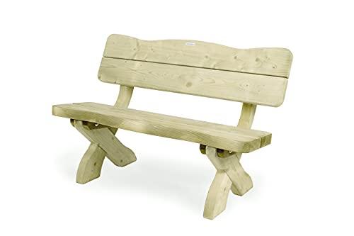 MaximaVida Gartenbank Provence 120 cm, rustikale Gartenbank - aus 60 mm starkem Holz