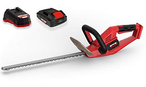Grizzly Tools Akku-Heckenschere mit 20 V, 2,0 Ah Lithium Ionen Akku und Schnellladegerät, Lasercut...