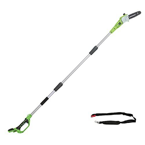 Greenworks Akku-Hochentaster G24PS20 (Li-Ion 24V 20cm Schwertlänge 6,7m/s Kettengeschwindigkeit bis...
