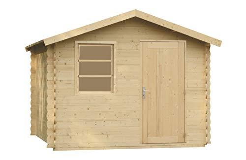 Alpholz Gerätehaus Toby aus Massiv-Holz | Gartenhaus mit 28 mm Wandstärke | Garten Holzhaus...