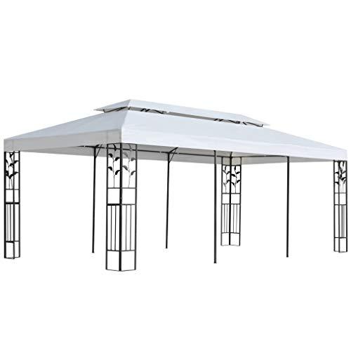 Festnight Pavillon 3 x 6 m Gartenpavillon | Faltpavillon Gartenzelt Partyzelt | UV- und...