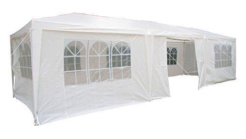 Airwave Pavillon, 3 x 9 m, weiß, Inklusive 3 x einzigartig gestalteter Windstangen für besondere...