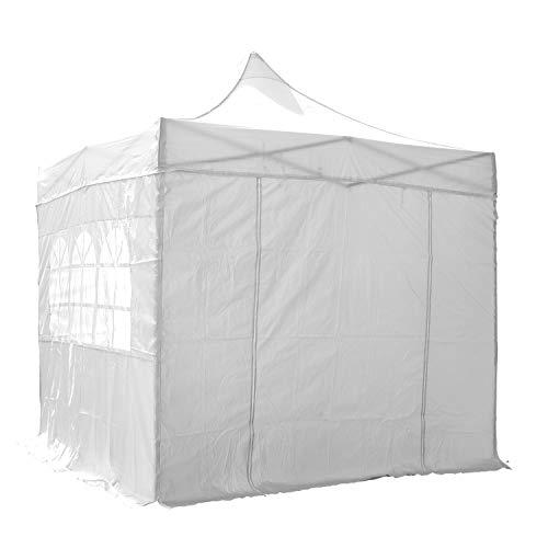 Airwave Pop-Up-Pavillon, 3 x 3 m, weiß, wasserfester GartenPavillon, 2 Windstangen und 4 Gewichte...