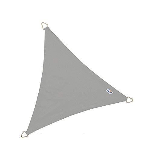 Wasserabw. Sonnensegel Dreieck grau 4 x 4 x 4 m
