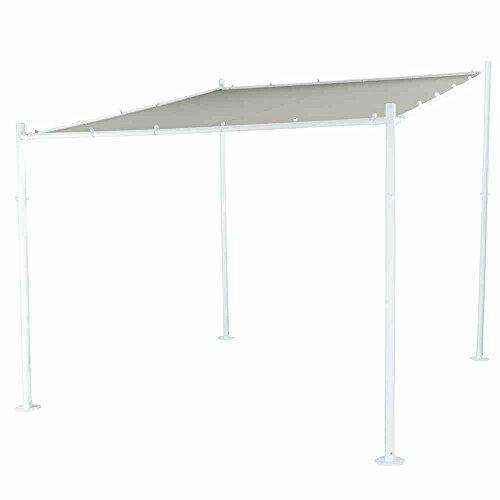 Siena Garden Pavillon Levino, 285x285x282cm, Gestell: Stahl, pulverbeschichtet in weiß, Dach:...