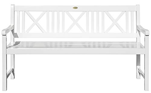 Garden Pleasure Landhausbank LÜBECK weiß lackiert, 2-Sitzer und 3-Sitzer, in FSC Eukalyptus und...