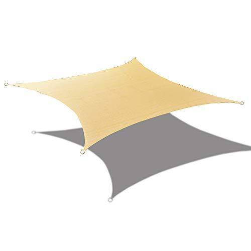 ALION HOME Sonnensegel, rechteckig, aus Polyurethan, wasserdicht, gewebt, 2,4 x 3,3 m 9.5' x 11'...