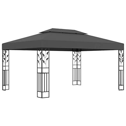 Festnight Pavillon mit Doppeldach Festzelt Partyzelt Gartenlaube Gartenzelt Gartenpavillon für...