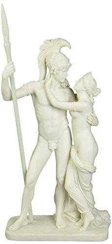 Design Toscano Ares und Aphrodite (Mars und Venus), Kunstharzgebundene Marmorfigur
