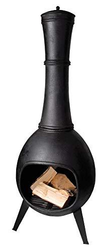 Esschert Design Terrassenofen, Terrassenkamin, bauchige Form, aus Gusseisen, Größe L, ca. 53 cm x...