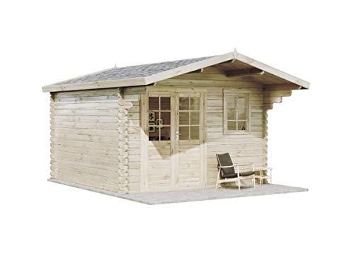 Alpholz Gartenhaus Erki-44 B aus Massiv-Holz | Gerätehaus mit 44 mm Wandstärke | Garten Holzhaus...