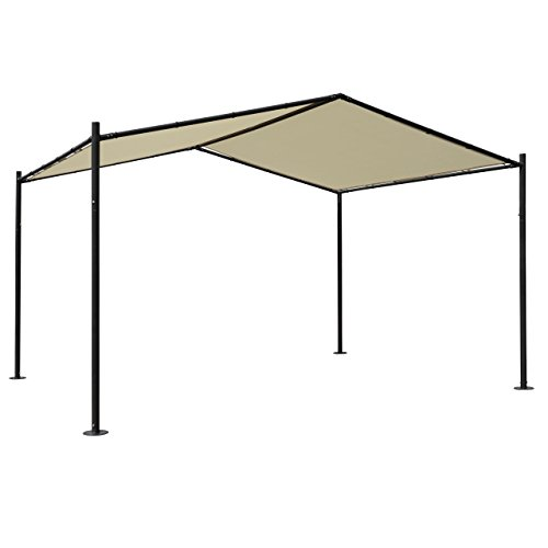 Mendler Pergola HWC-A42, Garten Pavillon Terrassenüberdachung, stabiles 6cm Stahl-Gestell 4x3m -...