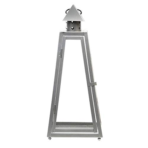 Rivanto® Laterne Pyramide S 17 x 17 x 40 cm, aus Eisen, Grablicht, Windlicht mit Transporthenkel,...
