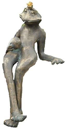 Steinfiguren Horn Wasserspeier Froschkönig Gunter, von der Künstlerin Hanf, Bronze Frosch,...