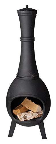 Esschert Design Terrassenofen, Terrassenkamin, bauchige Form, aus Gusseisen, Größe M, ca. 44 cm x...