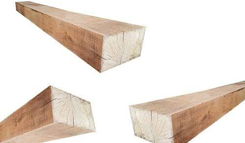 Holzpfosten aus Eichenholz - Kantholz Eichen Pfosten Holz Pfahl (8x8 x 50 cm)
