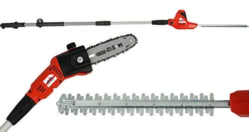 Grizzly Tools KSHS 710-500 2in1 Kombigerät Elektro-Hochentaster und Teleskop-Heckenschere, Länge...