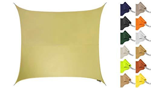 Kookaburra Sonnensegel Wasserabweisend 3,6m Quadrat Sandfarben