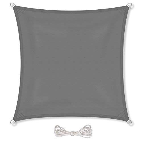 CelinaSun Sonnensegel inkl Befestigungsseile PES Polyester wasserabweisend imprägniert Quadrat 3 x...