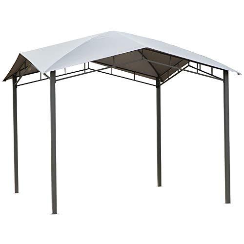Outsunny Gartenpavillon Pavillon Überdachung Vordach Sonnenschutz Partyzelt Laube Metall +...