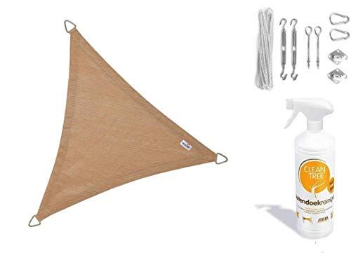 Nesling Compleet Pakket Coolfit Sonnensegel, wasserfest, dreieckig, 3 x 5 cm, Marraine. Der Sand...