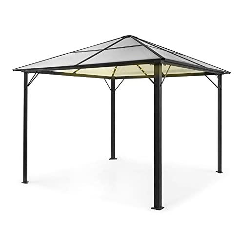 blumfeldt Pantheon Solid Sky Ambient Solar Pavillon, Aluminiumkantrohr, 7,6 x 7,6 cm Eckpfosten mit...