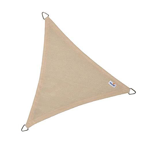 nesling Coolfit Sonnensegel (Dreieck 5,0m x 5,0m x 5,0m, Altweiss) Sonnenschutz, Wasser und Wind...