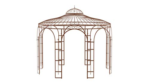 ELEO Florenz wunderschöner Gartenpavillon Winterfest I Stabiler Rundpavillon Ø 3,7 m I Stabiler...