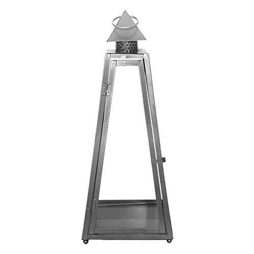 Rivanto® Laterne Pyramide L 21 x 21 x 55 cm, aus Eisen, Grablicht, Windlicht mit Transporthenkel,...