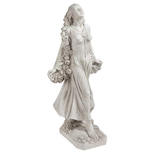 Design Toscano Statue Flora die göttliche Schutzherrin der Gärten, Maße: 37 x 37 x 77.5 cm 9 kg