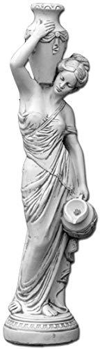 gartendekoparadies.de Große massive Statue Maia (133 cm) Gartenfigur aus Steinguss frostfest