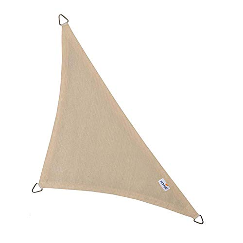 nesling Coolfit Sonnensegel (Dreieck 90° 4,0m x 4,0m x 5,7m, Altweiss) Sonnenschutz, Wasser und...