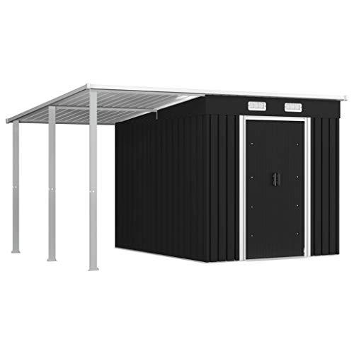 vidaXL Gerätehaus mit Vordach Geräteschuppen Gartenschuppen Werkzeugschuppen Gartenhaus Schuppen...
