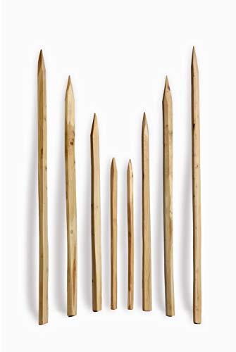 Gespaltener Akazienpfosten 150 cm - Zaunpfosten Robinien Holz Natur Zaun Pfahl Reebstock Pfosten