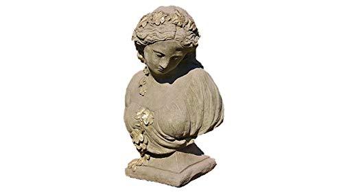 Steinfigur Büste Kate, Frauenbüste aus Steinguss, Skulptur