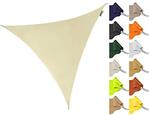 Kookaburra Sonnensegel Wasserabweisend 5,0m Dreieck Elfenbein