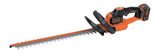 Black+Decker Akku-Heckenschere (18 V 4,0Ah, Antiblockierfunktion, 50 cm Schwertlänge, 18 mm...