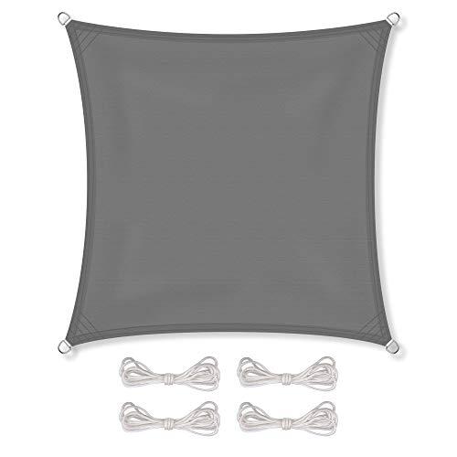 CelinaSun Sonnensegel inkl Befestigungsseile PES Polyester wasserabweisend imprägniert Quadrat 4 x...
