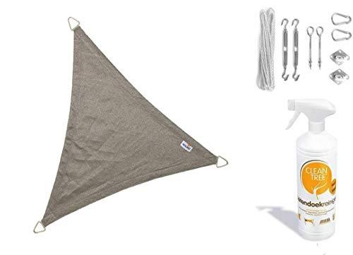 nesling Compleet Pakket Coolfit Stoff waterdoorlatend Dreieck 3.6x3.6x3.6 Meter Rot Met EEN RVs...