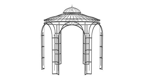 ELEO Milano wunderschöner Gartenpavillon Winterfest I Stabiler Rundpavillon Anthrazit Ø 2,9 m I...