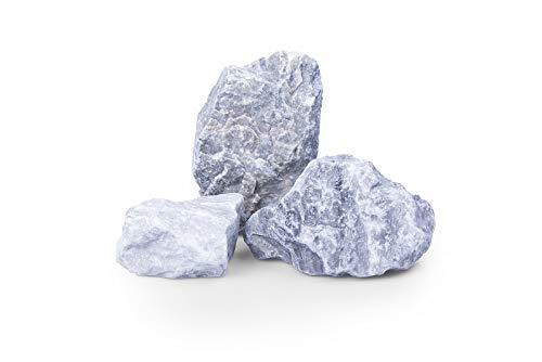 GABIONA Kristall blau Natursteine Bruch I Gabionen Steine zum Befüllen für Gabionenkörbe für die...